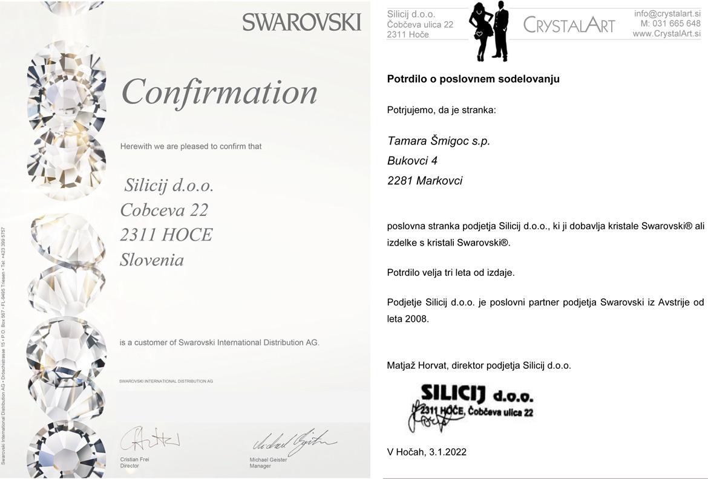 Swarovski certifikat