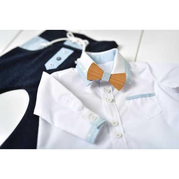 Fantovski svetlo modro/beli krstni komplet